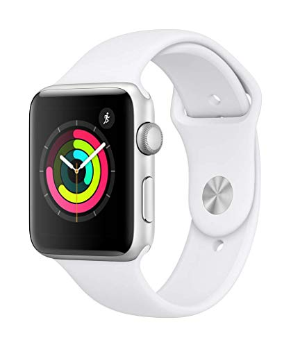 AppleWatch Series3 (GPS, 42mm) - Silver Aluminium Case with White Sport Band