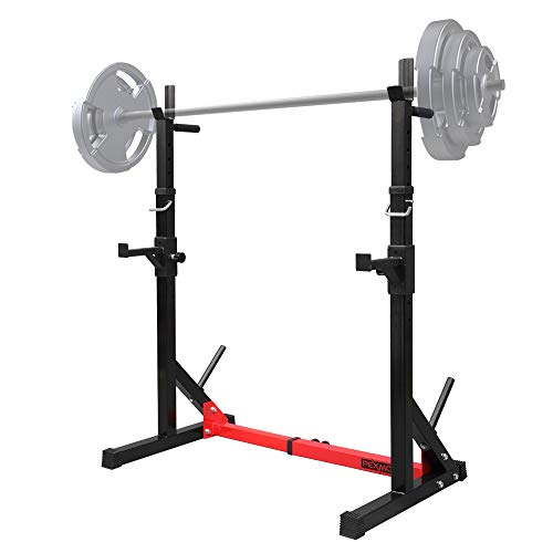 PEXMOR Multi-Function Barbell Rack Squat Stand with Barbell Plate Rack, Adjustable Dip Stand...
