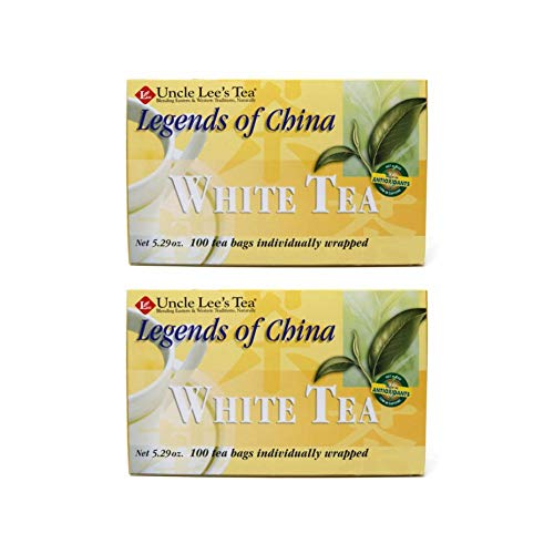 Legends of China White Tea 100 Bags (Pack of 2)
