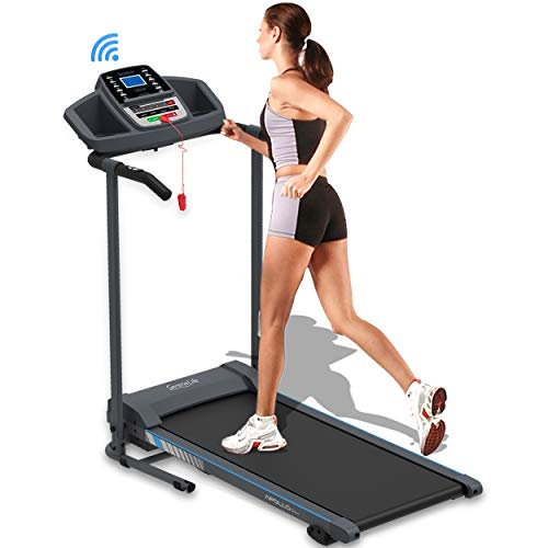 SereneLife Smart Electric Folding Treadmill – Easy Assembly Fitness Motorized Running Jogging...