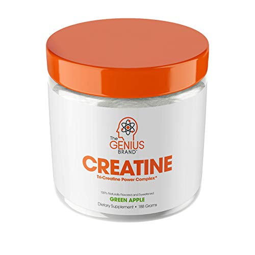 Genius Creatine Powder, Post Workout Supplement For Men and Women with Creapure Monohydrate,...
