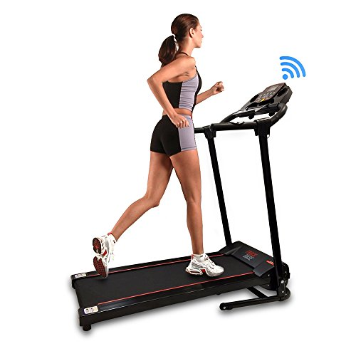 SereneLife Smart Digital Folding Exercise Machine - Electric Motorized Treadmill with...