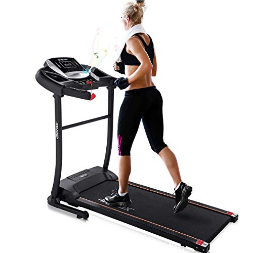 Merax Electric Folding Treadmill – Easy Assembly Fitness Motorized Running Jogging Machine...