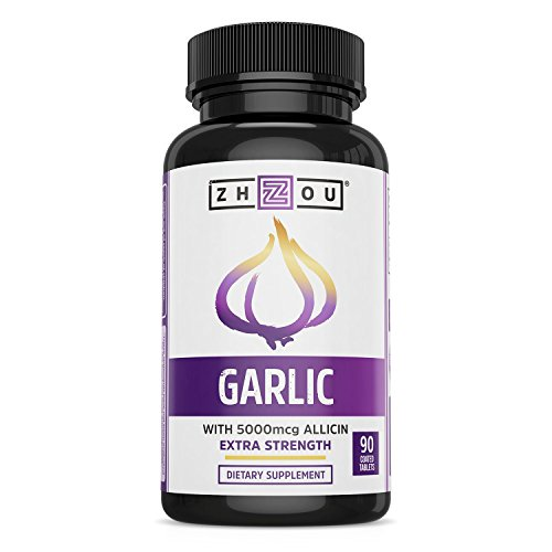 Extra Strength Garlic with Allicin - Powerful Immune System Support Formula - Enteric Coated...