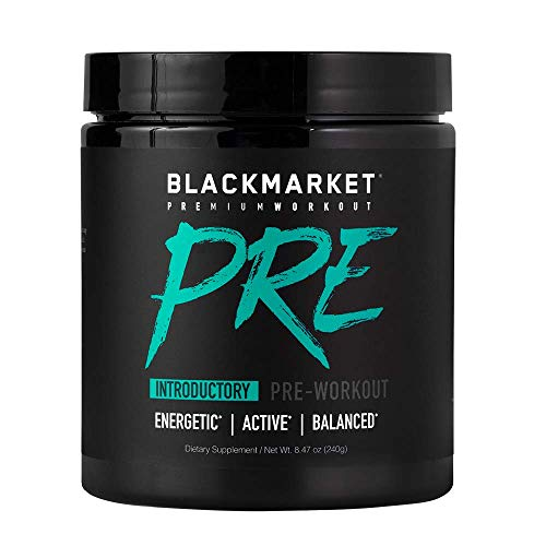 Blackmarket PRE Pre-Workout Dietary Supplement Powder - Energy Booster, Sports Drink, Muscle...
