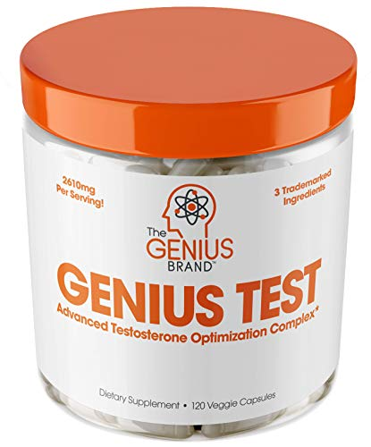 Genius Test - The Smart Testosterone Booster For Men | Natural Energy Supplement, Brain &...