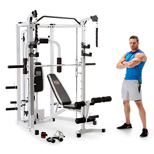 Marcy Combo Smith Strength Home Gym Machine, White