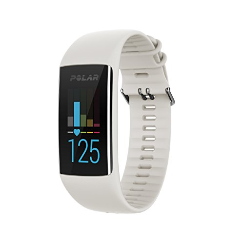 Polar A370 Fitness Tracker with 24/7 Wrist Based Heart Rate, White
