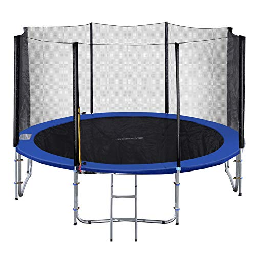 Exacme TUV Approved Heavy Duty Trampoline with Enclousre Net, Spring Cover, Ladder, Include All...