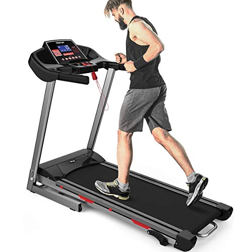 Merax Heavy Duty Treadmill with Wide Shock-Absorbing Running Board, Large LCD Panel and...