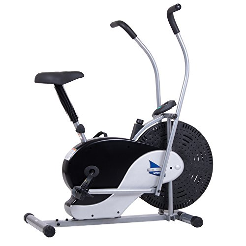 Body Rider Exercise Upright Fan Bike (with UPDATED Softer Seat) Stationary Fitness/Adjustable...