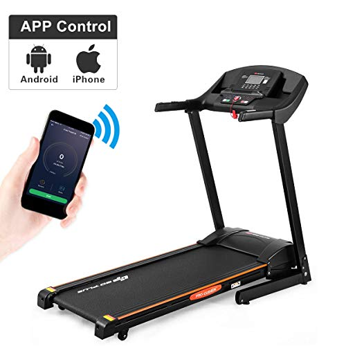 Goplus 2.5HP Folding Treadmill Automatic Incline Jogging Running Fitness Machine with App...