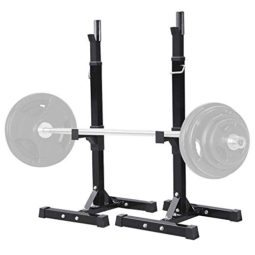 Yaheetech Pair of Adjustable Squat Rack Standard Solid Steel Squat Stands Barbell Free-Press...