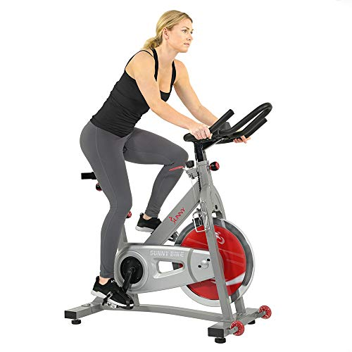 Sunny Health & Fitness Pro II Indoor Cycling Bike with Device Mount and Advanced Display –...
