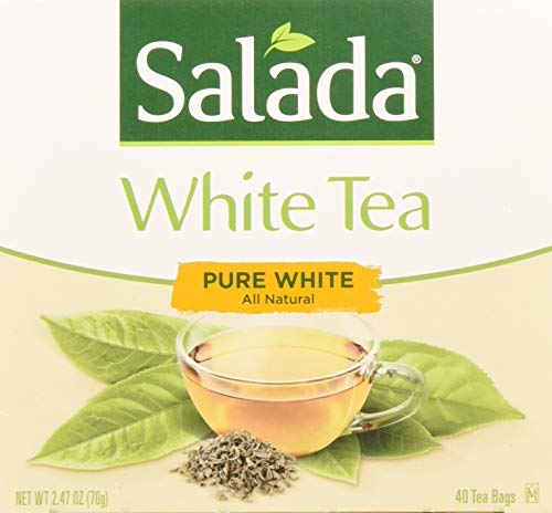 Salada Pure White Tea, 40-Count Packages (Pack of 6)