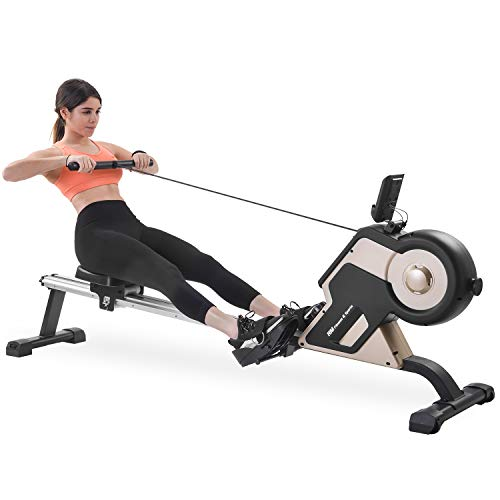Merax Rowing Machine Rower with Magenetic Resistance LCD Monitor 340 LBS Max Weight Cardio...