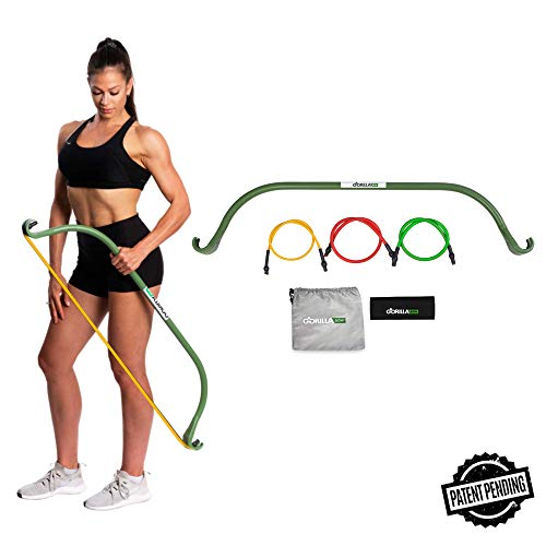 Gorilla Bow Lite, Portable Home Gym Resistance Band System, Weightlifting and HIIT Interval...