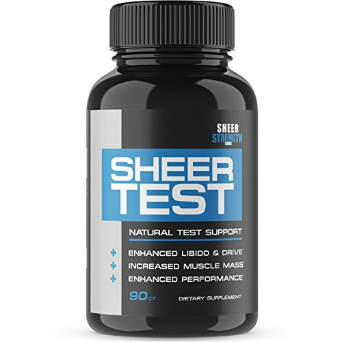 Sheer Testosterone Booster for Men - Natural Supplement for Increasing Strength, Stamina, and...