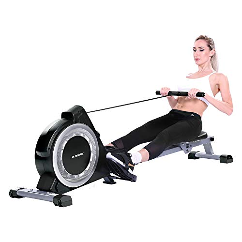 MaxKare Magnetic Rowing Machine Folding Exercise Rower 16-Level Tension Resistance Precise...