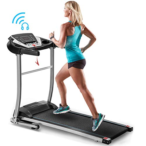 Merax Folding Electric Treadmill Motorized Running Machine Easy Assembly Electric Treadmills...