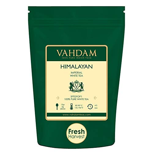 VAHDAM, Imperial White Tea Leaves from Himalayas (25 Cups) - World's Healthiest Tea Type -...