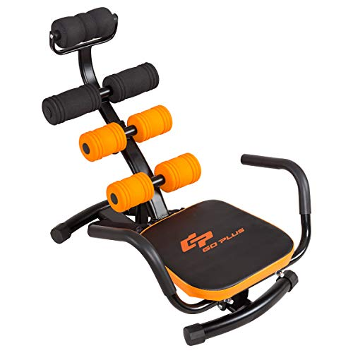 Goplus Core & Abdominal Trainers, Twister Trainer Ab Exercise Machine Height Adjustable Incline...