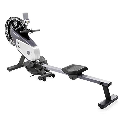 MaxKare Rowing Machine Air Rower Dual Belt Dynamic Air Resistance with LCD Monitor for Home Use