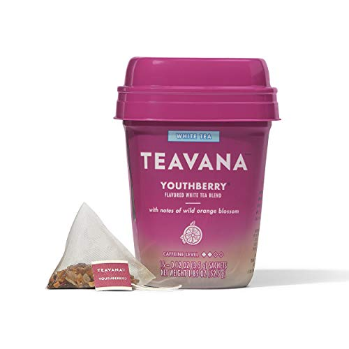 Teavana Youthberry, White Tea With Notes of Wild Orange Blossom, 60 Count (4 packs of 15...
