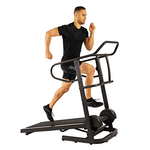 Sunny Health & Fitness Force Fitmill Manual Treadmill with 16 Levels of Magnetic Resistance,...