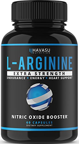 Havasu Nutrition Extra Strength L Arginine - 1200mg Nitric Oxide Supplement for Muscle Growth,...