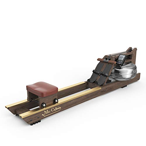 Mr Captain Rowing Machine for Home Use,Water Resistance Vintage Oak Rower with New Customizable...