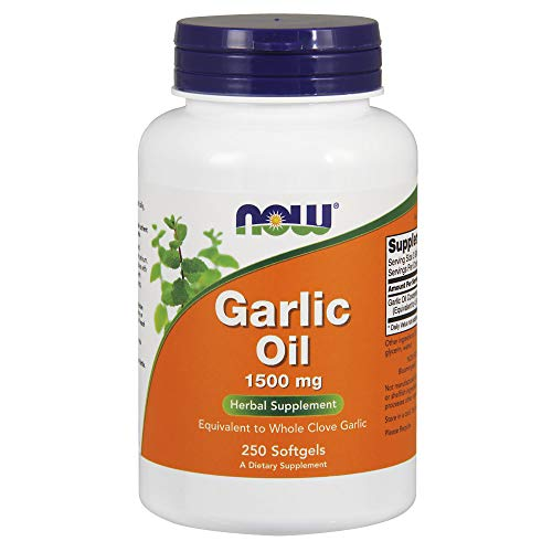 NOW Supplements, Garlic Oil 1500 mg, Serving Size Equivalent to Whole Clove Garlic, 250...