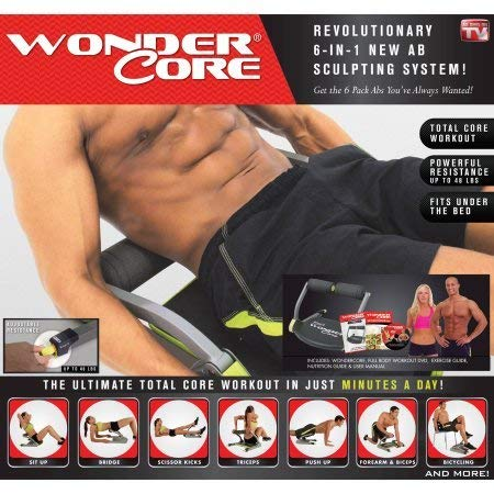 NEW Wonder Core Smart Complete Body Workout Exercise System tone midsection arms and legs...