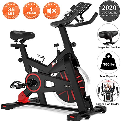 TRYA Spin Bike, Belt Drive Indoor Cycling Bike Stationary with Ipad Mount, 35 LBS Flywheel...