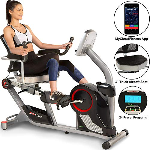 Fitness Reality X-Class 450SL Bluetooth Smart Technology Magnetic Recumbent Exercise Bike with...