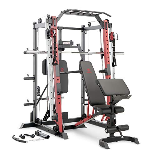 Marcy Smith Machine Cage System Home Gym Multifunction Rack, Customizable Training Station...