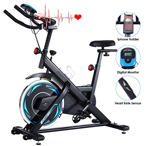 ANCHEER Exercise Bike Stationary 330 Lbs Weight Capacity- Indoor Cycling Bike with Tablet...