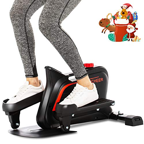 ANCHEER Mini Elliptical Machine Trainer, Various Adjustable Resistance Compact Strider with...