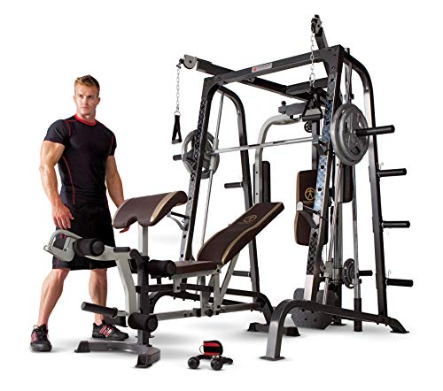 Marcy Smith Cage Workout Machine Total Body Training Home Gym System with Linear Bearing...