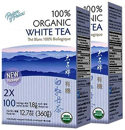 Prince of Peace Organic White Tea 100 Count (Pack of 2)