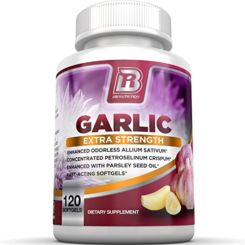 BRI Nutrition Odorless Garlic - 120 Softgels - 1000mg Pure and Potent Garlic Allium Sativum...