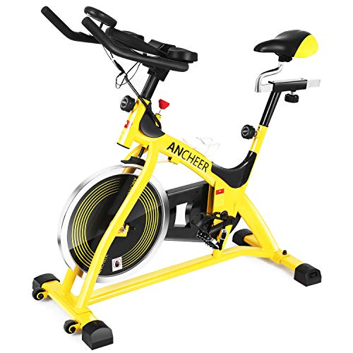 ANCHEER Indoor Cycling Stationary Bike, 40 lbs Flywheel Exercise Bike with Heart Rate, Quiet...