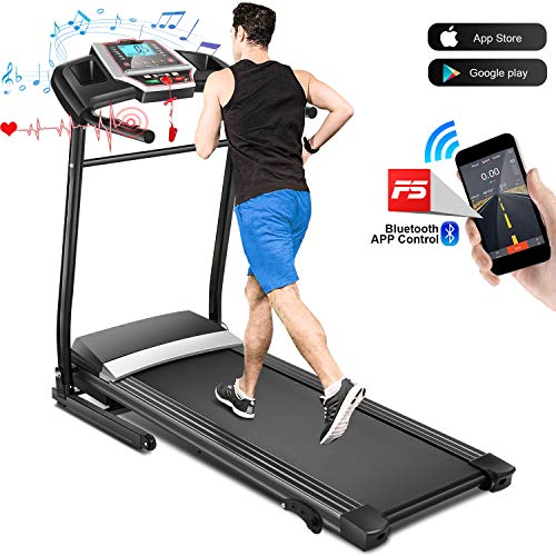 FUNMILY 2.25HP Treadmill for Home Running Exercise - Folding Treadmill Electric Motorized with...