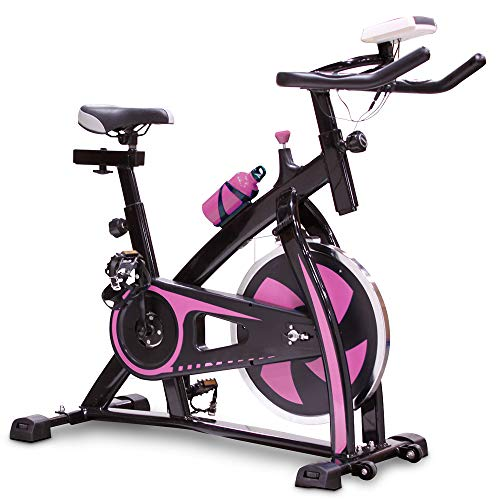V-FIRE Indoor Cycling Bike Stationary - Exercise Cycle Bike with Water Bottle & Comfortable...