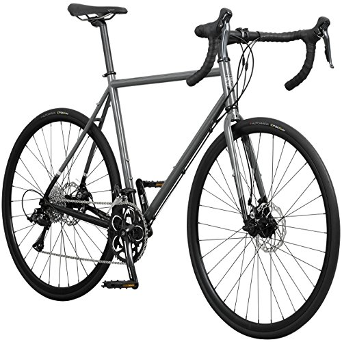 Pure Cycles Classic 18-Speed Disc Road Bike, 56cm/Large, Passo Grey