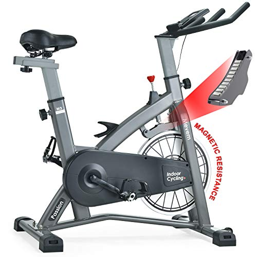 MEVEM Indoor Cycling Bike-Belt Drive Indoor Magnetic Exercise Bike,Indoor Stationary Bike for...