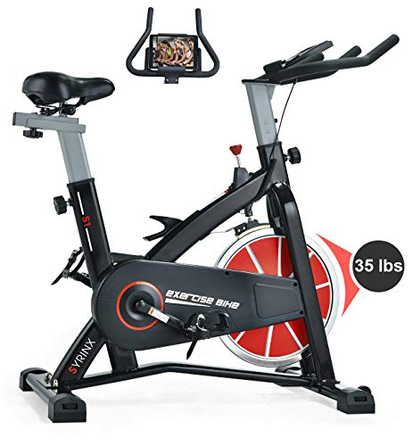 SYRINX Indoor Cycling Bike-Belt Drive Indoor Exercise Bike,Stationary Cycle Bike for Home...