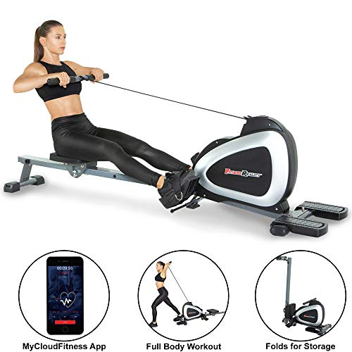 Fitness Reality 1000 Plus Bluetooth Magnetic Rower Rowing Machine with Extended Optional Full...