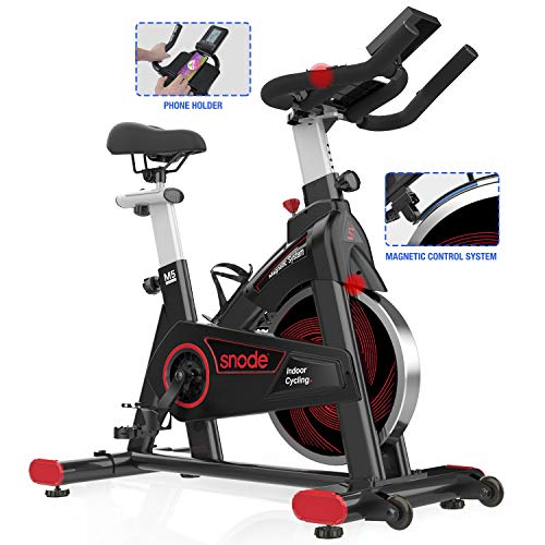 SNODE 8731 Magnetic Spin Bike - Stationary Exercise Bike, Indoor Cycling Bike with Tablet...