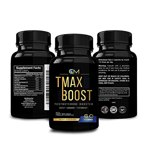 Testosterone Booster for Men - Tribulus & Saw Palmetto Supplement - Stamina Strength Endurance...